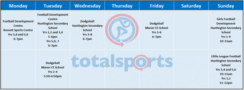 evening-and-weekend-timetable-newsletter